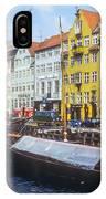 Nyhavn Boat Docks IPhone Case