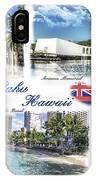 Oahu Postcard 2 IPhone Case