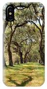 Oak Allee At Roseland Plantation  IPhone Case