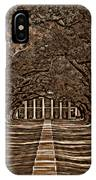 Oak Alley Bw IPhone Case