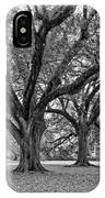 Oak Alley Grounds Bw IPhone Case