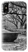 Oak Alley Plantation Landscape In Bw IPhone Case