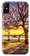 Oak Trees At Sunrise IPhone Case