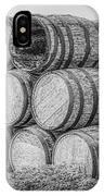 Oak Wine Barrels Black And White IPhone Case
