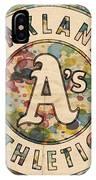 Oakland Athletics Poster Vintage IPhone Case