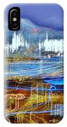 Ocean City Maryland At Night - Blue IPhone Case