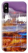 Ocean City By Night - Abstract Purple IPhone Case