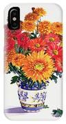 October Chrysanthemums IPhone Case