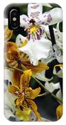 Gold And White Orchids IPhone Case