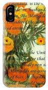 October's Child Birthday Card With Text And Marigolds IPhone Case