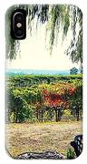 Off Into The Horizon Wine Country Views IPhone Case