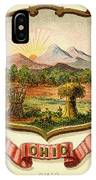 Ohio Coat Of Arms - 1876 IPhone Case