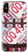 Ohio State Buckeyes Football Recycled License Plate Art IPhone Case