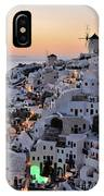Oia Town During Sunset IPhone Case