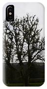 Oil Painting - An Old Tree In The Middle Of A Garden And Playground IPhone Case