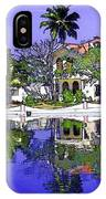 Oil Painting - Cottages And Lagoon Water IPhone Case