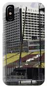Oil Painting - Floating Platform And Construction Site In The Marina Bay Area IPhone Case