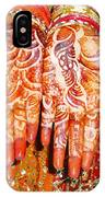 Oil Painting - Wonderfully Decorated Hands Of A Bride IPhone Case