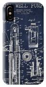 Oil Well Pump Patent From 1912 - Navy Blue IPhone Case