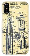 Oil Well Pump Patent From 1912 - Vintage IPhone Case