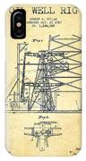 Oil Well Rig Patent From 1917- Vintage IPhone Case
