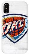 Okc Thunder Basketball Team Retro Logo Vintage Recycled Oklahoma License Plate Art IPhone Case
