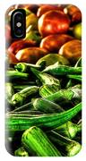 Okra And Tomatoes IPhone Case
