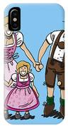 Oktoberfest Family Dirndl And Lederhosen IPhone Case