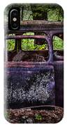 Old Abandoned Car In The Woods IPhone Case