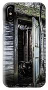 Old Abandoned Well House With Door Ajar IPhone Case