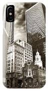 Old And New In Boston IPhone Case