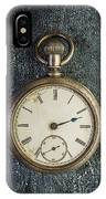 Old Antique Pocket Watch IPhone Case