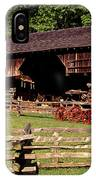 Old Appalachian Farm Cantilevered Barn IPhone Case