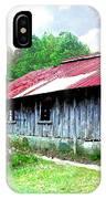 Old Barn Along Golden Road Filtered IPhone Case