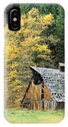 Old Barn In Autumn IPhone Case