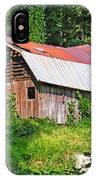 Old Barn Near Chimney Rock IPhone Case
