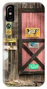 Old Barn Signs - Door And Window - Shadow Play IPhone Case