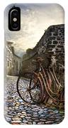 Old Bicycles On A Sunday Morning IPhone Case