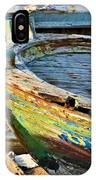 Old Boat - Lebanese Artist Zaher El- Bizri IPhone Case