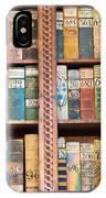 Old Books In Prague IPhone Case