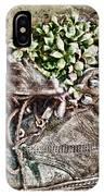 Old Boot Flowerpot IPhone Case