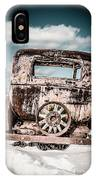 Old Car In The Snow IPhone Case