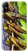 Old Clothes Pins II - Digital Paint IPhone Case