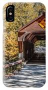 Old Covered Bridge Vermont IPhone Case
