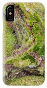 Old Decaying Lichens Moss Covered Taiga Tree Trunk IPhone Case