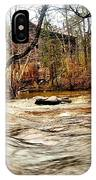 Old Dial Mill On The Rushing Waters Of Big Haynes Creek IPhone Case