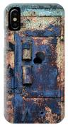 Old Door At Abandoned Prison IPhone Case