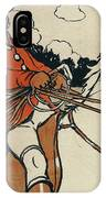Old English Sports And Games Hunting IPhone Case