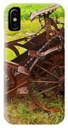 Old Farm Equipment Hardin Montana IPhone Case