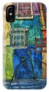 Old Fashion Bike And Blue Wall IPhone Case